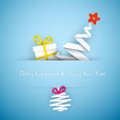 Simple vector blue christmas card