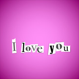 I love you vector illustration
