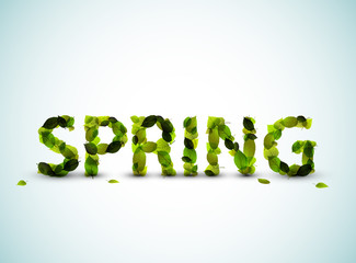 Vector spring lettering illustration
