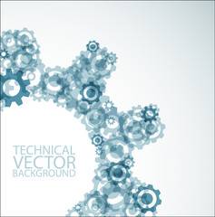 Vector background made from cogwheels