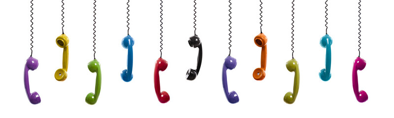 Colored vintage phones