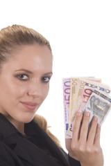 Euro in der Hand