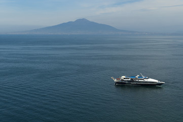 Mount Vesuvius from Sorrento Campania Italy