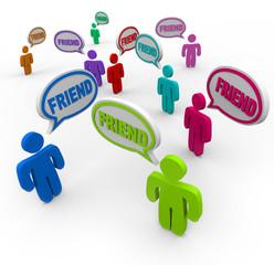 Friend Speech Bubbles Friendship Connections