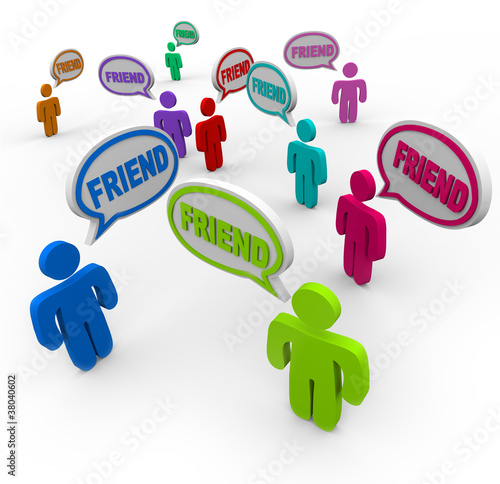 Friend Speech Bubbles Friendship Connections
