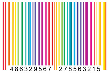 colorful barcode illustration