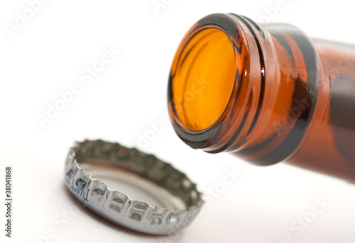 beer bottle with metal lid - 38041868