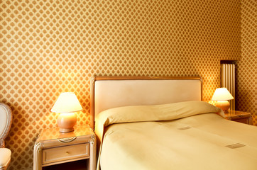 interior house, hotel, bedroom