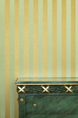 interior luxury apartment, detail room, dresser