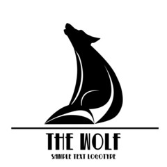 Logo Wolf. Heroism, dignity and nobility # Vector