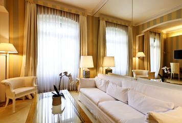 interior luxury apartment, comfortable suite, lounge