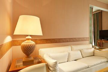 interior luxury apartment, comfortable classic living room