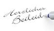 Stift Konzept - Herzliches Beileid