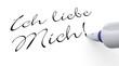 Stift Konzept - Ich liebe Mich!