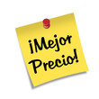 Post-it con chincheta texto ¡Mejor Precio!