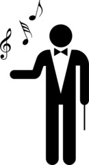 Conductor of an orchestra pictogram