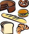 Illustration with a set of baking items