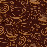 Fototapety coffee break. seamless background