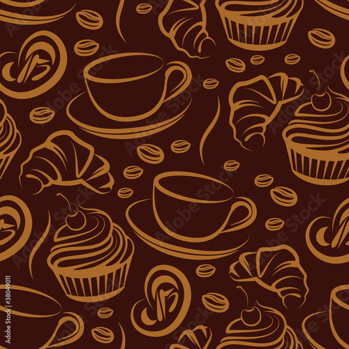 coffee break. seamless background