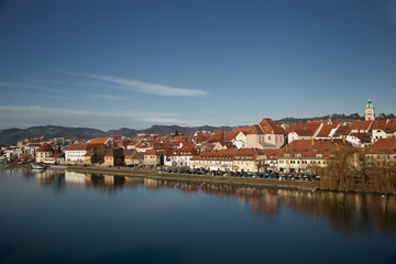 Panoramic view of Maribor, Slovenia.