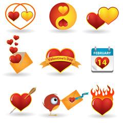 Valentines day vector icon set