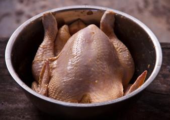 Preparing stuffed chicken