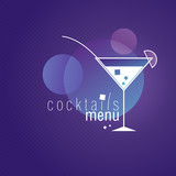 Coctails Menu Card Design template