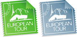 European tour vector tickets