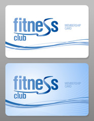 Fitness club membership card design template