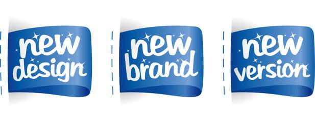 New Brand, Design, Version labels set