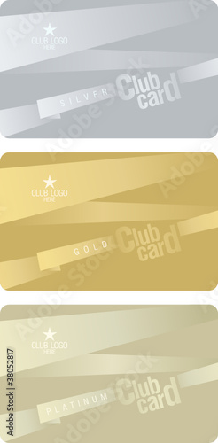 Club plastic cards design template