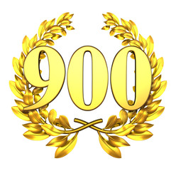 900 ninehundred number laurel wreath
