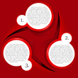 Vector red background with a circular chart