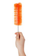 Orange brush for washing dishes and bottles