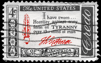 USA - CIRCA 1960 Jefferson Quotation