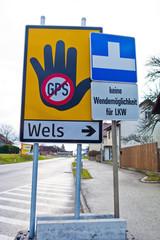 Verkehrszeichen für Navigationssysteme