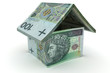 House made of 100 zloty notes