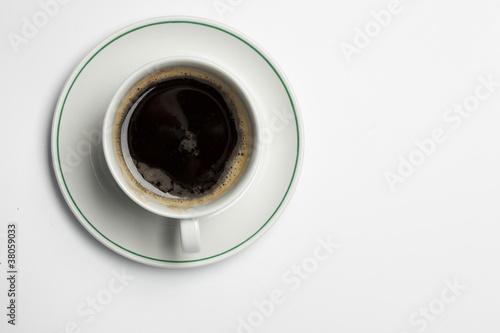 coffecup on a white background