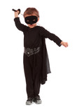 Young boy dressed in Zorro
