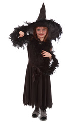 witch in black dress and hat