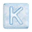 Ice cubes Font. Letter K