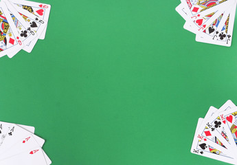 Playing cards frame arrangement