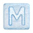 Ice cubes Font. Letter M