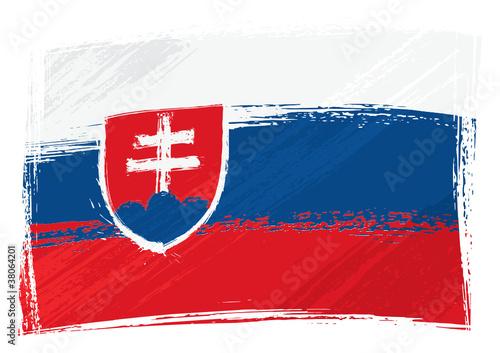 Grunge Slovakia flag