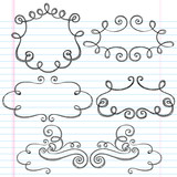 Sketchy Picture Frames Notebook Doodles poster