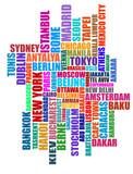 capital cities typographic illustration poster