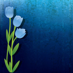 abstract grunge background with flowers