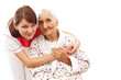 medical care for an old woman