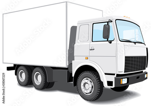 Vector isolated delivery truck without gradients