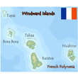 windward islands french polynesia map flag